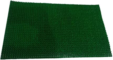 Home Leader Handicraft Style Eco Series Cotton Blend 34 x 60 cm Door Mat Colour - Green