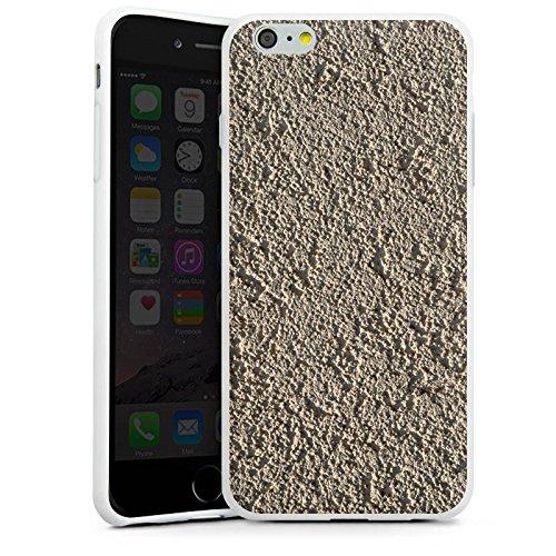 Apple iPhone X Silikon Hülle Case Schutzhülle Beton Wand Muster Struktur Silikon Case weiß