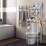 رفوف تخزين وتنظيم الحمام، رف تخزين ابيض
