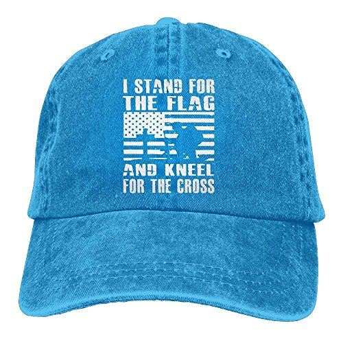I Stand for The Flag and Kneel for The Vintage Jeans Baseball Cap Classic Cotton Dad Hat
