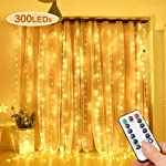 VanStar LED Curtain Lights, 300 LED 3x3 Meters 8 Modes Fairy Window String Lights with Remote Control for Indoor Holiday...