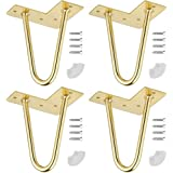 DIY Meubels Metalen Tafelpoten, 4 Delige Moderne Poten uit Het Midden van de Eeuw, met Voetschroeven voor Vloerbeschermer, vo