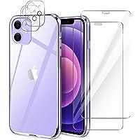 YIRSUR Cover Compatibile con iPhone 12 con 2 Pezzi Vetro Temperato Pellicola Protettiva e 2 Pezzi Protettore Lente…