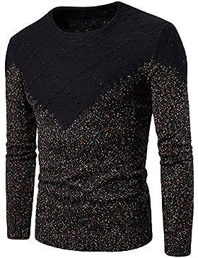 HY-Sweater La strickmode Hombres Ocio Hedging Slim, Negro, Medium