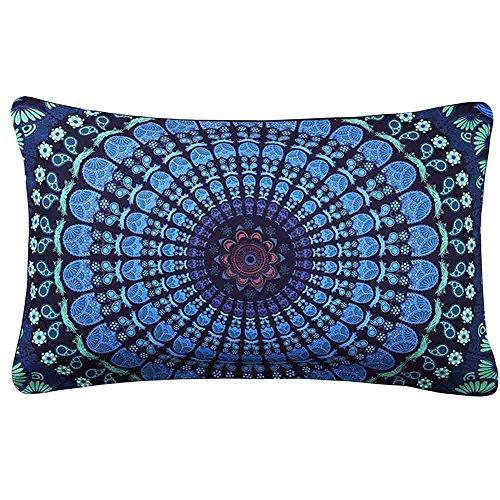 Federe,WINWINTOM Indiana Mandala Floor Cuscini Rotonda Bohemian Pillow Copertura ,G