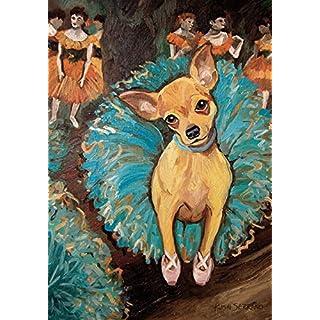 Toland Home Garten-Dogas Chihuahua 31,8 x 45,7 cm Deko Welpe Hund Portrait Ballerina Tänzerin Garten Flagge