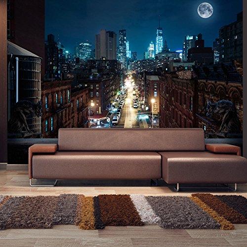 murando – Papier peint intissé – 250x175 cm – Trompe l oeil - Tableaux muraux – Déco – XXL– City NY NYC New York ville bei nuit d-A-0028-a-a