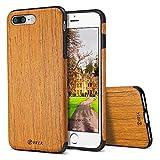 iPhone 7 Plus Fall, BELK [Luft zu schlagen] nicht weiche Holz dünner Stoß, Kratzer beständig Grip Ultra Light TPU Verschluss zurück Abdeckung mit Gummi Corner für Apple iPhone 7 - Eiche