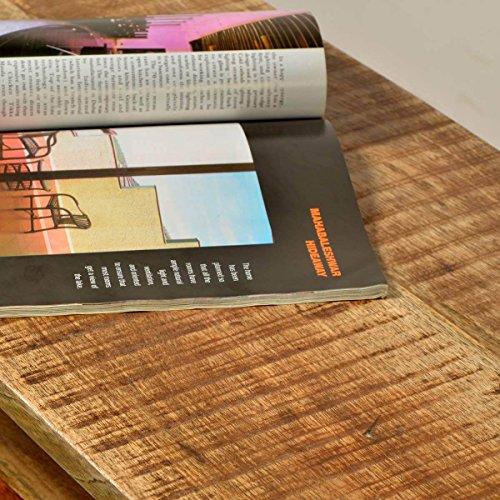 TV-Lowboard TV-Board Romsdal, Retro Vintage Design, Massivholz Mangoholz Natur, Breite 140 cm, Tiefe 40 cm, Höhe 52 cm - 6