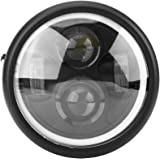 """Elerose 6.5"""" Faro per moto LED Anello luminoso per Sportster Cafe Racer Bobber (luce bianca fredda)"""