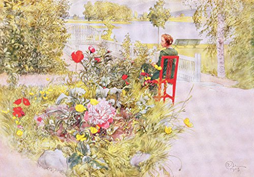 Kunstdruck/Poster: Carl Larsson Summer in Sundborn 1913 from a commercially Printed Portfolio published in 1939