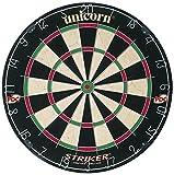 Unicorn Dartscheibe Dartboard Striker inkl. 1 Satz Ersatzflys von Roleo Darts