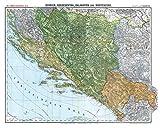 Historische Karte: BOSNIEN, HERZEGOWINA, MONTENEGRO und DALMATIEN 1913 [gerollt]: Carl Flemmings Generalkarte, No. 46.