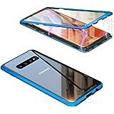 Jonwelsy Funda para Samsung Galaxy S10 Plus, Adsorción Magnética Parachoques de Metal con 360 Grados Protección Case Cover Tr
