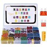 Conpro 150pcs Mini Fusibles Coche + 150pcs Fusibles Coche Mediano - 11 Especificaciones Fusible Coche: 2A 3A 5A 7.5A 10A 15A