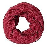 MANUMAR Loop-Schal für Damen | feines Hals-Tuch in schwarz braun mit Schlüssel Motiv als perfektes Herbst Winter Accessoire | Schlauch-Schal | Damen-Schal | Rund-Schal | ideales Geschenk für Frauen