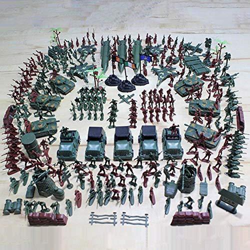 SH-Flying 307 Kit Soldatini Militari Plastica, Giocattoli dell'Esercito dei Soldati di Giocattolo La plastica Verde Tradizionale per i Giochi di Guerra - Giochi di Guerra Regalini Festa