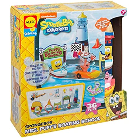 SpongeBob Mrs. Puff's Boating School Bath Toy by ALEX Toys