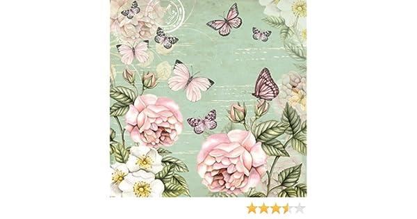 Tovaglioli per d/écoupage,/a 3 strati 4 pezzi 33/x 33/cm per lavoretti e arte con tovaglioli motivo: piante botaniche