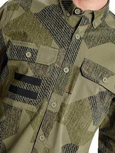 Only & Sons Camicia Manica Lunga Uomo Tank Reg Camo Shirt 22009010 Regular Verde