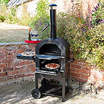 New Tesco Multifunction Charcoal Pizza Oven With Side Shelf