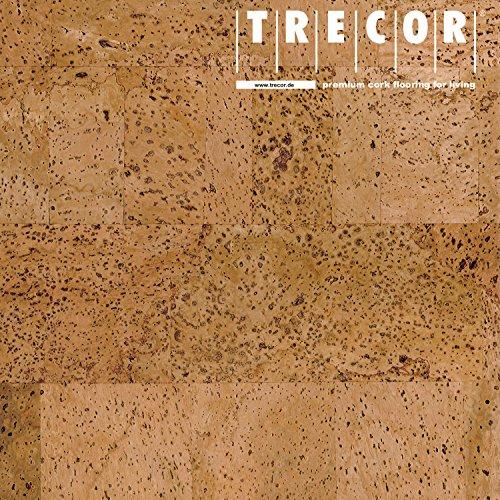 "TRECOR Korkboden mit Klicksystem ""SIENA"" - Korkfertigparkett mit CLIPEX Klicksystem und Keramiklack Oberfläche in 24 Farben mit Keramiklack / Antiscratch Oberfläche lieferbar - Format: 900 x 300 x 10 mm (Natur)"