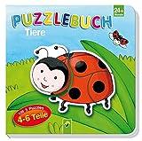 Puzzlebuch Tiere: Mit 5 Puzzles á 4-6 Teile - Vera Brüggemann
