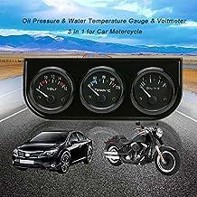 KKmoon 52mm Medidor 3 en 1 Voltímetro Medidor de Presión de Aceite Temperatura de Agua Triple Electrónica para Coche Motos