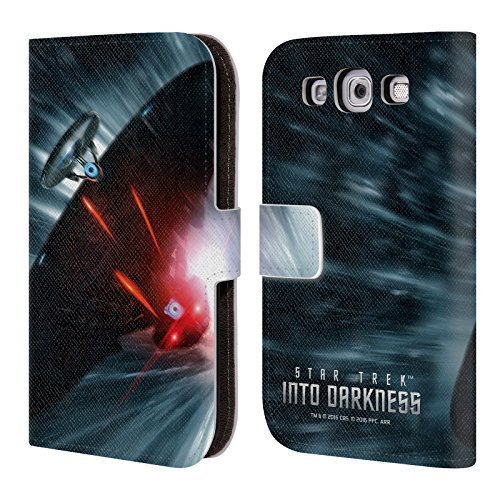 Head Case Designs Offizielle Star Trek Raumschiff Jagd Poster Into Darkness XII Brieftasche Handyhülle aus Leder für Samsung Galaxy S3 III I9300