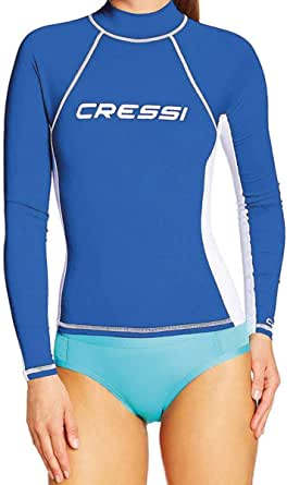 Cressi Women's Rash Guard Lady Long Sl Long Sleeves Protective Jersey, in Special Elastic Fabric, UV Sun Protection (UPF) 50+