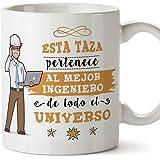 MUGFFINS Ingeniero Tazas Originales de café y Desayuno para Regalar a Trabajadores Profesionales - Esta Taza Pertenece al Mej