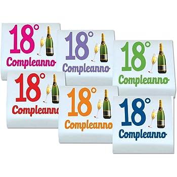 QUADRATINI DI MARSHMALLOW STAMPATI 1 CONFEZIONE + 20 BIGLIETTINI BOMBONIERA (18 ANNI 0898)