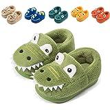 Fadezar Zapatillas De Estar por Casa para Niñas Niños Invierno Pantuflas Animales Antideslizantes Cálido Slippers Verde 27/28