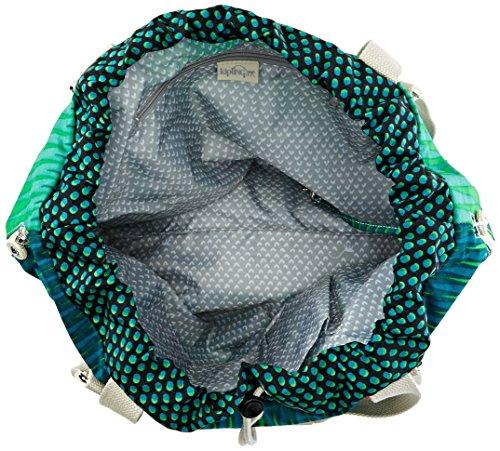 Kipling Damen Lazy Daisy Basic Plus Capsule Schultertaschen, Grün (Cactus Garden J44), 49 x 36 x 15 cm Mehrfarbig (Dots Waterfall 37D)