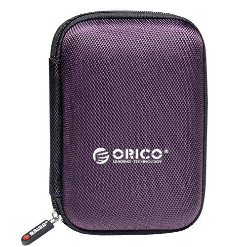 ORICO Housse de Protection pour Disque Dur Externe Portable DE 2,5 Pouces Housse de Protection Double Disque Tampon Tampon - Violet