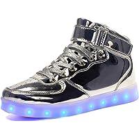 Voovix Baskets Montants Enfant Clignotant Chaussures de lumière LED pour Garçons et Filles Multicolores Chaussures de…