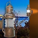 Schiffs Wand Leuchte AUSSEN Ø220mm/Antik/Maritim/Braun/Rost/Messing/Lampe Aussenlampe Aussenleuchte Wandlampe Wandleuchte