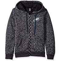 6c12ee62889 Icer Brands NFL Philadelphia Eagles Men's Full Zip Hoodie Sweatshirt Marl  Knit Jacket