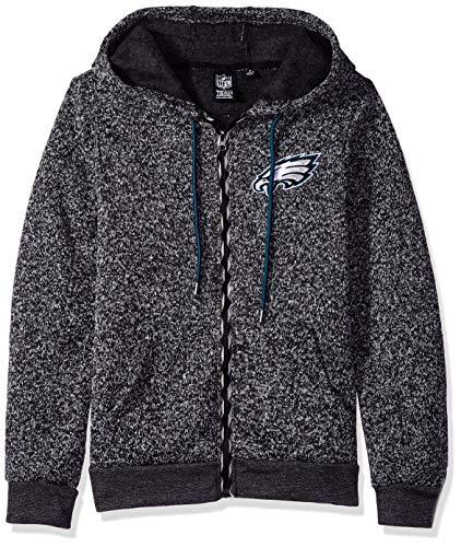 Icer Brands NFL Philadelphia Eagles Herren Kapuzenpullover mit Reißverschluss, Gr. L, Grau -