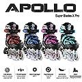 Apollo Super Blades X Pro, größenverstellbar von 31 bis 38, LED Inline-Skates, Rollerblades für Kinder, ideal für Anfänger, komfortable Rollschuhe, Inliner für Mädchen und Jungen
