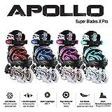 Apollo Super Blades X Pro, LED Inline-Skates, Rollerblades für Kinder, ideal für Anfänger, komfortable Rollschuhe, In
