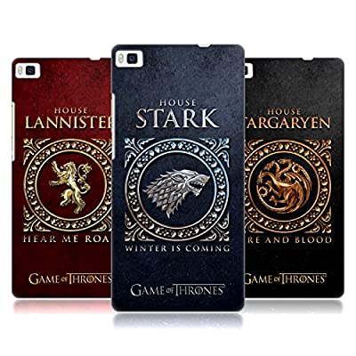 Official HBO Game Of Thrones Metallic Sigils Hard Back Case for Huawei Phones 1