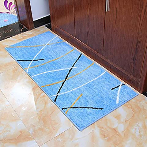 New day®-Épaissir le coussinet de porte tapis absorbant Ottomans salon chambre à coucher salle de bains , days blue , 50*120cm