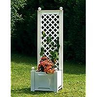 Jardinera con enrejado 43cm Color Blanco