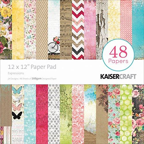 Kaisercraft Papier Pad 12Zoll x 12Zoll 48kg-Expressions