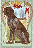 Pipsqueak Productions C951 Holiday Boxed Cards- German Pointer