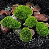 VENMO Micro Landschaft Fee Garten Miniatur Dekoration Ornament künstliche gefälschte Moos Rasen moosigen Stein Modell Spielzeug DIY Zubehör Papier Ziegel Stein Moos rustikale Wirkung (Green, L)
