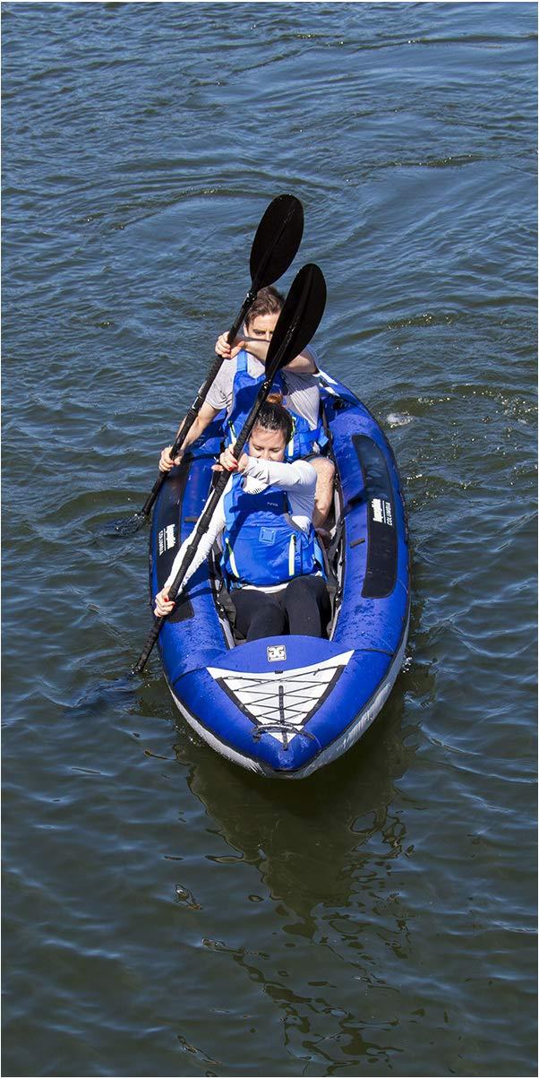 61C6fD6UtIL - Aquaglide Columbia XP XL Tandem Kayak + 2Free Paddles + Pump