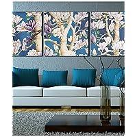 Wie&Joe Su tela Art Landscape FlowersFull Filiale Set di 3 , 16