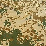 TOLKO Bundeswehr Camouflage-Stoff Meterware | Leichter reißfester Sommer Nylonstoff | im 3 Farben Tropen Flecktarn